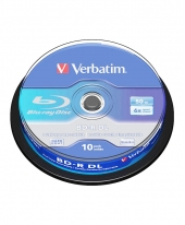 Verbatim Blu-Ray (BDR DL) 50GB 6x (10pcs in Spindle) [Cake Box]